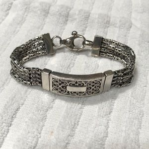 Jewelry - 925 Chunky Silver Bracelet
